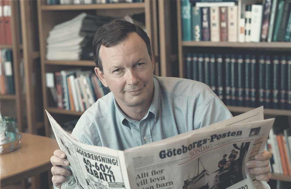 Gammal skrivmaskin Göteborgs-Posten